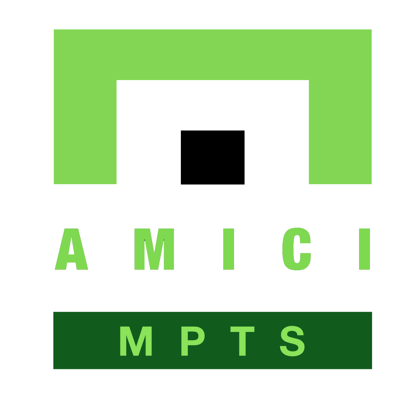 Amici MPTS Logo - Black DOT - Tranparent Background