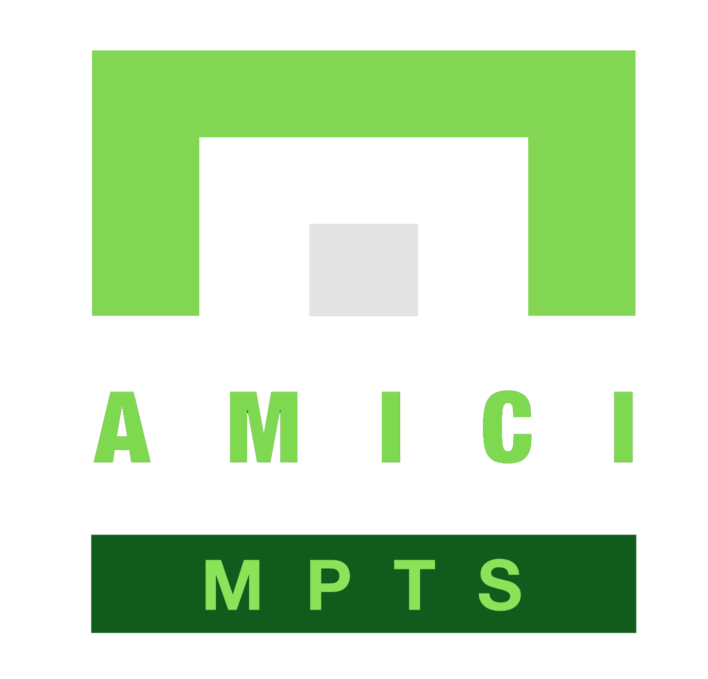 Amici MPTS Logo - White DOT - Transparent Background