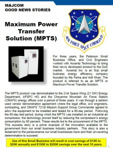 Air Force Space Command - Maximum Power Transfer Solution